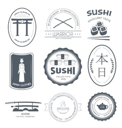 Country Japan label template of emblem element for vector