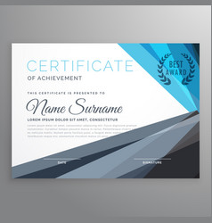Creative certificate of achievement design vector