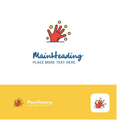 creative magical hands logo design flat color vector image