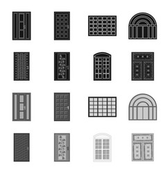 Design of door and front symbol collection vector