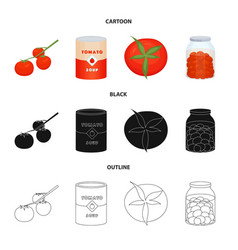 design vegetable and delicious logo set vector image