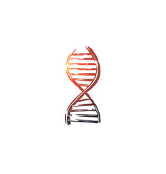 Dna medicine genetic biology science concept vector