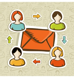 Email marketing campaign concept background vector image