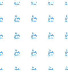father with not in shopping cart icon pattern vector image