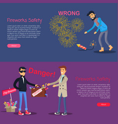fireworks safety deal danger and wrong usage vector image