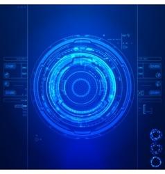 Futuristic graphic user interface vector