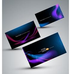 futuristic set cards vector image