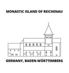 Germany baden-wurttemberg monastic island of vector