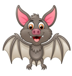 Happy Vampire Bat Cartoon Character Flying vector