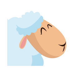 head sheep animal manger christmas celebration vector image