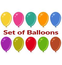 Holiday balloons set vector