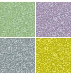 Irregular concentric circles pattern set vector
