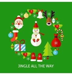 Jingle All The Way Postcard vector image