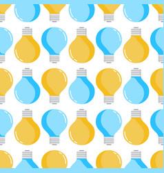 lamp light bulb seamless pattern vector image