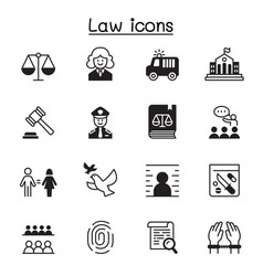 Law justice icon set graphic design vector