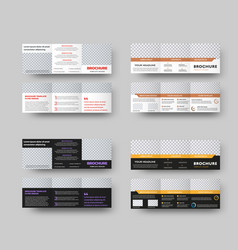 layout a white and black trifold with text and vector image