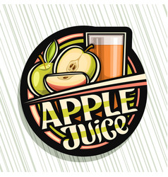 Logo for apple juice vector