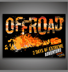 off-road horizontal poster vector image