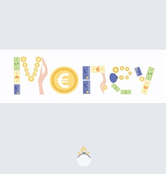 Postcard with picture of money vector