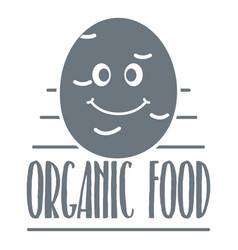 potato logo simple gray style vector image