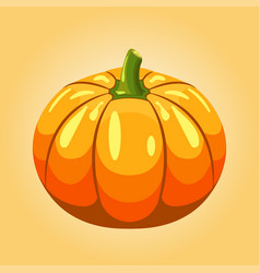 pumpkin autumn isolated halloween vector image