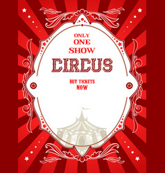 Red circus poster vector