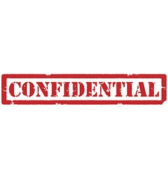Red confidential stamp vector image