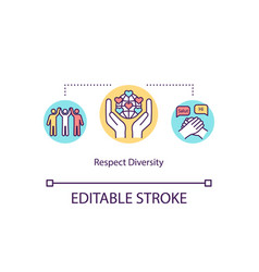 Respect diversity concept icon vector
