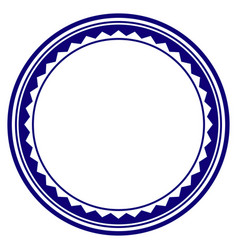 Round rosette seal template vector