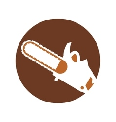 Saw electric tool isolated icon vector