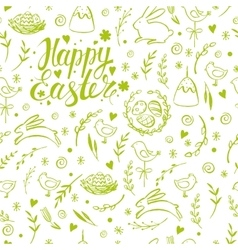 Seamless pattern with hand drawn Easter vector image