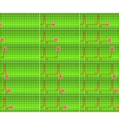 set cardiogram vector image