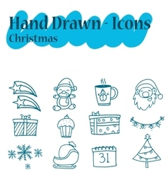 Set of Christmas theme icon vector