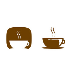 set of coffee shop logo icon template design vector image