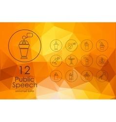Set of public speech icons vector
