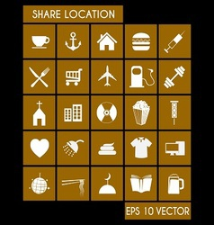 Shared Location Icon Set vector