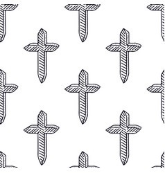 simple crosses pattern minimali seamless pattern vector image