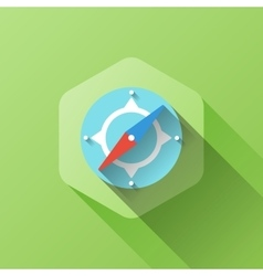 Simple of compass icon in flat style vector