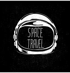 Space helmet vector