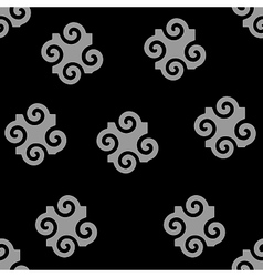 Spiral abstract gray seamless pattern vector