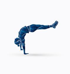 street dance dancer action vector image