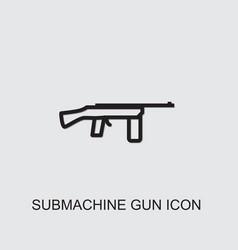 Submachine gun icon vector