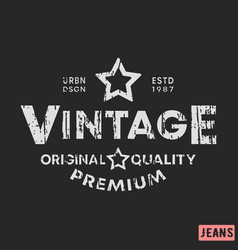 t-shirt print design vintage stamp printing and vector image
