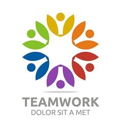Teamwork people human colorful design vector