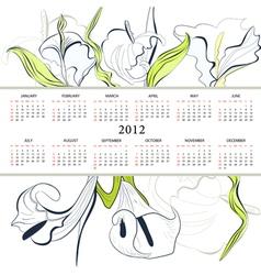 template calendar vector image