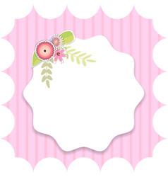 template for postcard invitation vector image