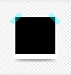 Template retro realistic frame photo vector