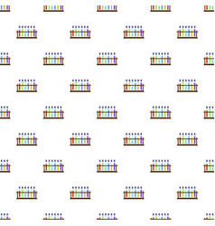 test tubes on stand pattern seamless vector image