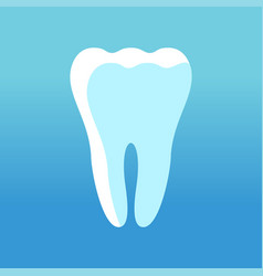 tooth white icon vector image