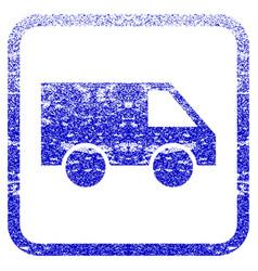 Van framed textured icon vector